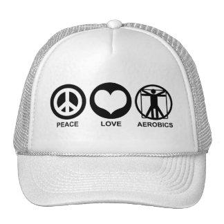 Peace Love Aerobics Mesh Hat