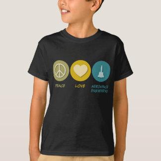 Peace Love Aerospace Engineering T-Shirt