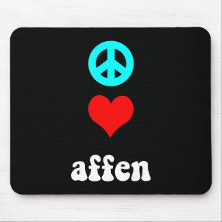 peace love Affen Mouse Pad