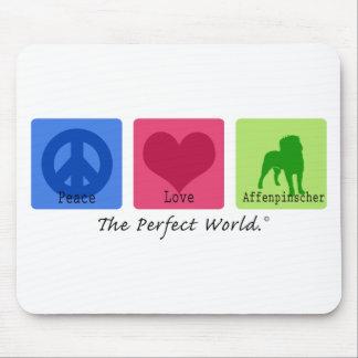 Peace Love Affenpinscher Mouse Pad