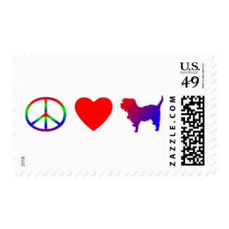 Peace Love Affenpinschers Postage Stamps