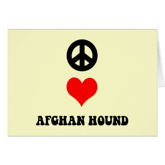 peace love afghan hound card