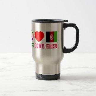 Peace Love Afghanistan Mugs