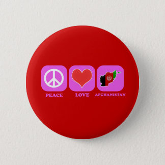 Peace Love Afghanistan Pinback Button