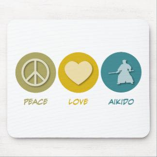 Peace Love Aikido Mouse Mats