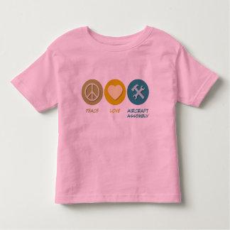 Peace Love Aircraft Assembly Tshirt