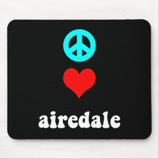 Peace love airedale mouse pad