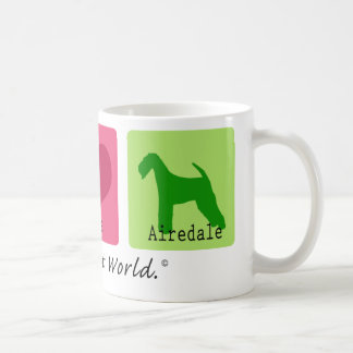 Peace Love Airedale Coffee Mug