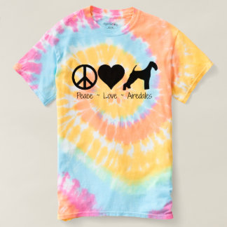 Peace Love Airedales T-shirt