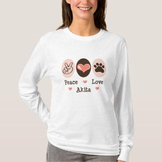 Peace Love Akita Long Sleeve Tee