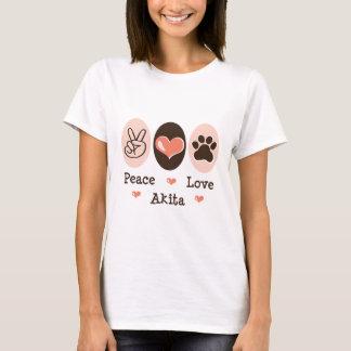 Peace Love Akita T-shirt