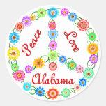 Peace Love Alabama Sticker
