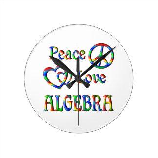 Peace Love Algebra Wall Clock
