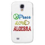 PEACE LOVE ALGEBRA GALAXY S4 CASE