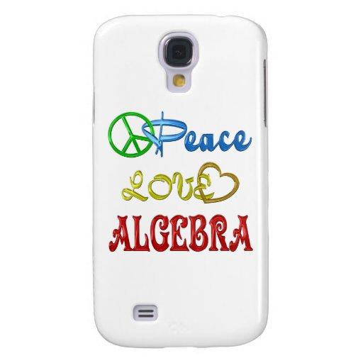 PEACE LOVE ALGEBRA GALAXY S4 CASES