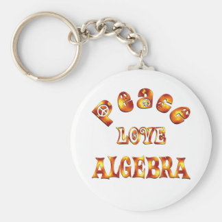 PEACE LOVE ALGEBRA BASIC ROUND BUTTON KEYCHAIN