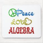 PEACE LOVE ALGEBRA MOUSE PAD