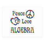 Peace Love Algebra Post Cards