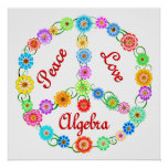 Peace Love Algebra Posters