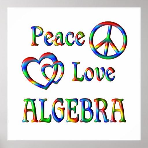 Peace Love Algebra Print