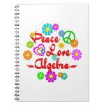 Peace Love Algebra Spiral Note Book