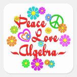 Peace Love Algebra Square Sticker