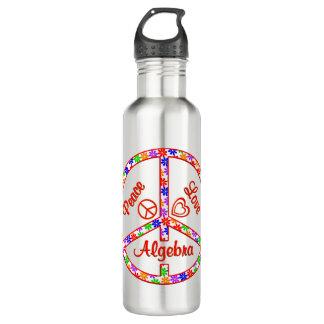 Peace Love Algebra Water Bottle