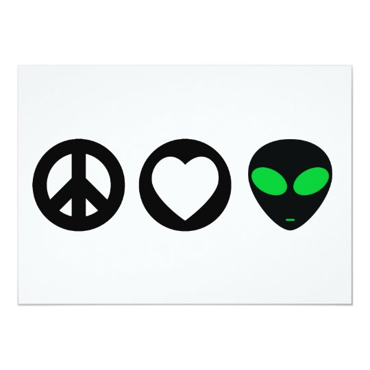 Peace Love Alien Card
