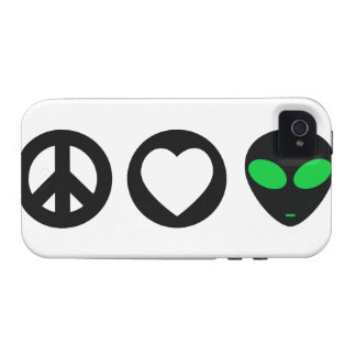 Peace Love Alien Vibe iPhone 4 Cases