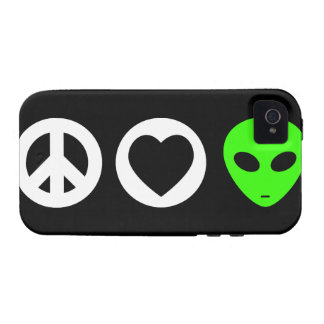 Peace Love Alien iPhone 4/4S Cover