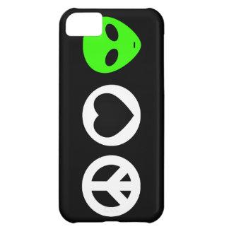 Peace Love Alien iPhone 5C Cases