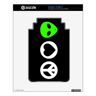 Peace Love Alien Decal For Kindle