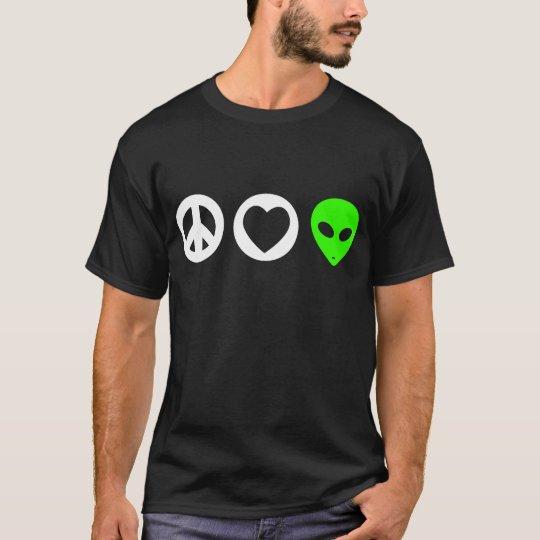 Peace Love Alien T-Shirt