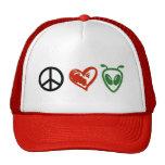 Peace Love Aliens Hat