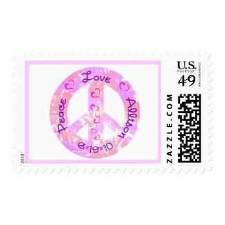 PEACE-LOVE-allison white background Postage