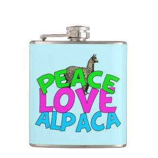 Peace Love Alpacas Hip Flask