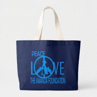 Peace,Love,Amanda Foundation Bag