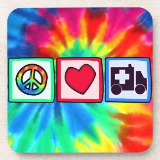 Peace, Love, Ambulance Drink Coaster