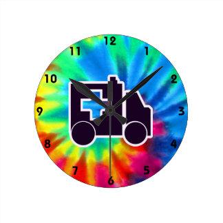 Peace, Love, Ambulance Round Clock