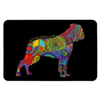 """Peace Love & American Bulldogs"" Pop Art Magnet"