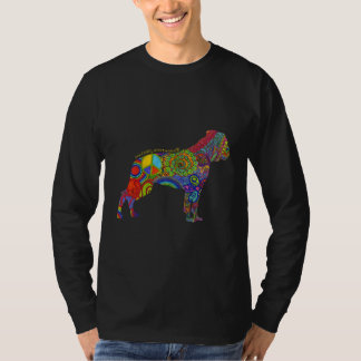 """Peace Love & American Bulldogs"" Pop Art Tee"