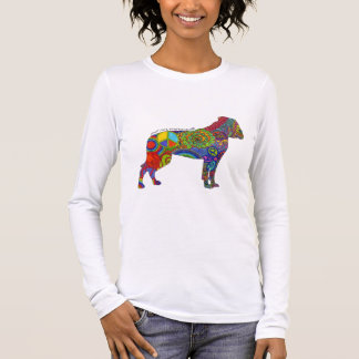 Peace Love & American Bulldogs Pop Art Womens Tee