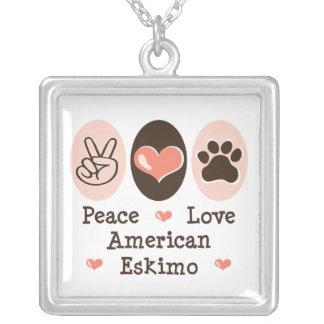 Peace Love American Eskimo Necklace
