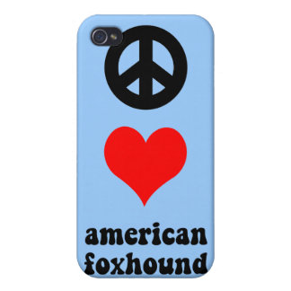 peace love american foxhound cases for iPhone 4
