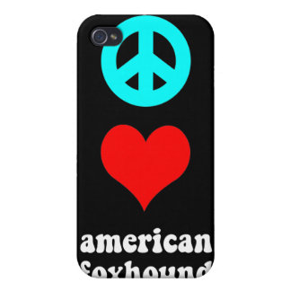peace love american foxhound iPhone 4/4S cases