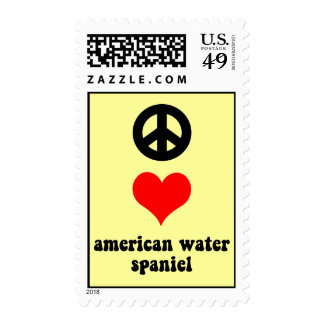 peace love american water spaniel stamps