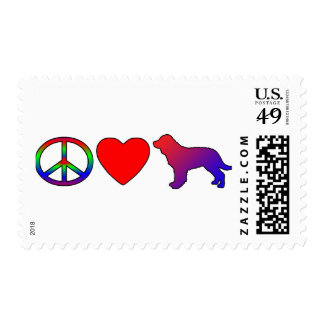 Peace Love American Water Spaniels Stamp