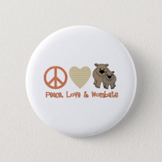 Peace, Love & Wombats Pinback Button