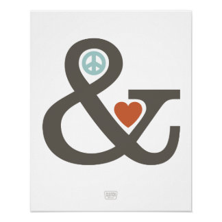 Peace & Love (Ampersand Series) Poster