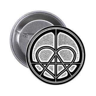 PEACE LOVE ANARCHY Humanitarian Symbol Button Pinback Button